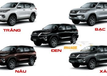 Mau xe Fortuner