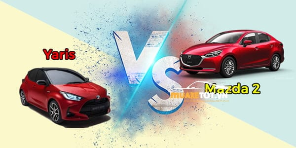 so sanh yaris va mazda2